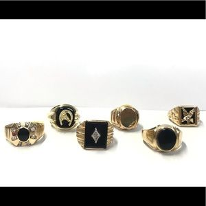 Antique Accessories - Frank Eagle x Onyx Signet Ring